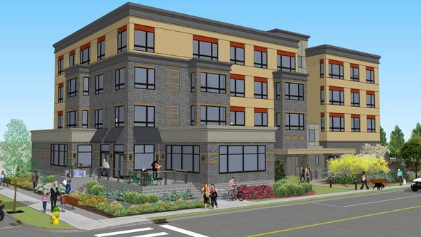 Rendering of rental apartment project in Mamaroneck
