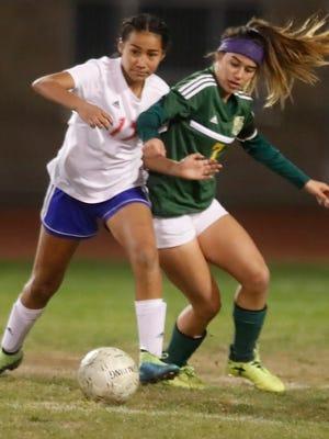 Indio High School, in green uniform, hosted Coachella Valley High School on December 21, 2017.