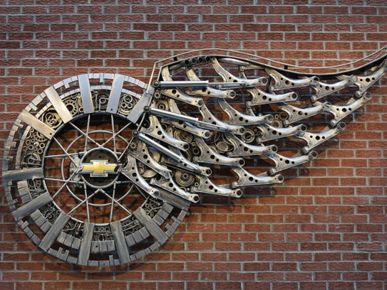 The sculpture Wheels and Wings by Tomas Vitanovsky
