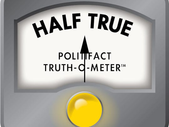 The Half True ruling on the Truth-O-Meter