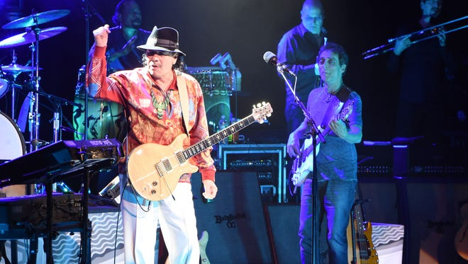 Carlos Santana plays the Bardavon 1869 Opera House in the City of Poughkeepsie. on April 10, 2016.