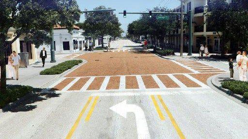 Artist's rendering of proposed redesign of South Dixie Highway, between Okeechobee Boulevard and Albemarle Road in West Palm Beach.