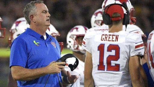 SMU head coach Sonny Dykes will visit Texas State on Aug. 29 to open the season. Bobcats head coach Jake Spavital served as Dykes' offensive coordinator at Cal in 2016.