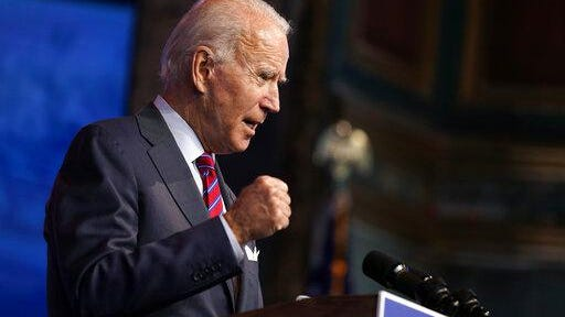 President-elect Joe Biden speaks about jobs at The Queen theater, Friday, Dec. 4, 2020, in Wilmington, Del.