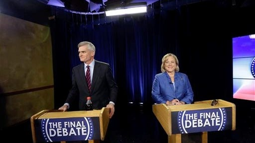 U.S. Rep. Bill Cassidy and U.S. Sen. Mary Landrieu wait Monday for the start of their final debate in the Senate race. The runoff election is Saturday. Landrieu harped on Cassidy's questionable billing for work done for LSU. The billing controversy was first reported by Cenla blogger Lamar White Jr. and another Louisiana blogger.