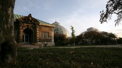 Starting Feb. 1, Belle Isle visitors will be required to have a recreation passport to see such things as the Belle Isle Aquarium and Belle Isle Conservatory, shown in 2009.