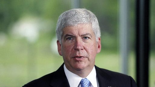 A complaint alleges Gov. Rick Snyder violated state campaign finance law in his State of the State address.
