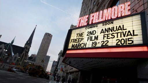 The marquee at the Fillmore Detroit.