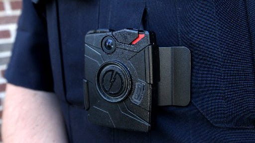 A body camera used by the Lowell Police Department in west Michigan