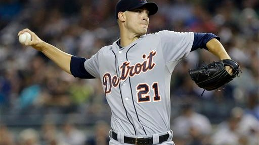 Detroit's Rick Porcello delivers a pitch. (AP File Photo/Frank Franklin II)