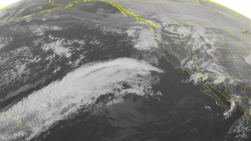 NOAA satellite image taken Monday, March 3.