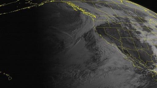 This NOAA satellite image taken Thursday, April 17.