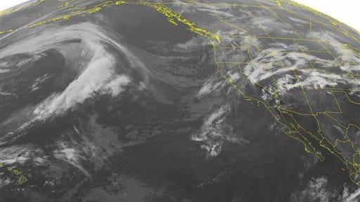 NOAA satellite image taken Monday, May 5, 2014.