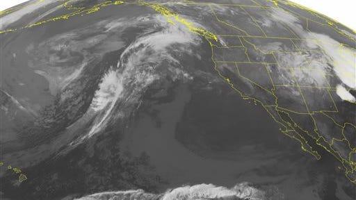 NOAA satellite image taken Monday, May 12.