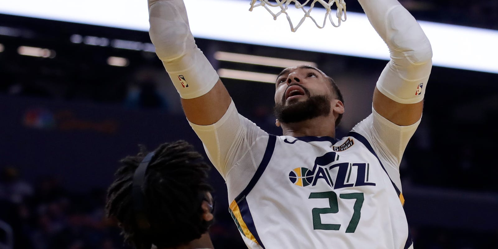 Rudy Gobert does it all as Jazz rout young Warriors, 129-96