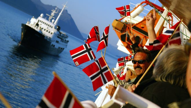 The 340-passenger Lofoten travels the scenic, fjord-lined coast of Norway.
