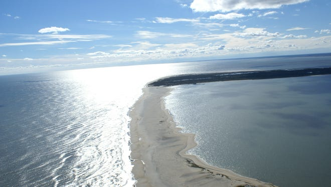 An aerial view of the Chincoteague Wildlife refuge.