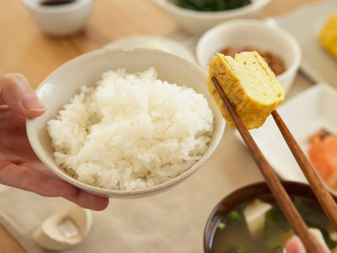 Japan: A breakfast in Japan is often light, savory and simple. A bowl of miso soup and rice or rice porridge is often the main part of the meal, sometimes accompanied by a piece of cooked fish and some pickled vegetables, and of course a cup of green tea.
