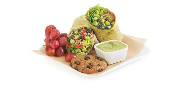 "This ""Mediterranean veggie wrap"" will be one of the"