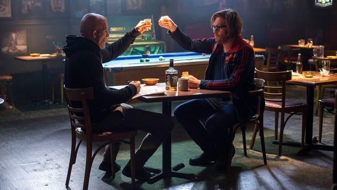 T.J. Miller (right) holds his own against Ryan Reynolds' 'Deadpool.'