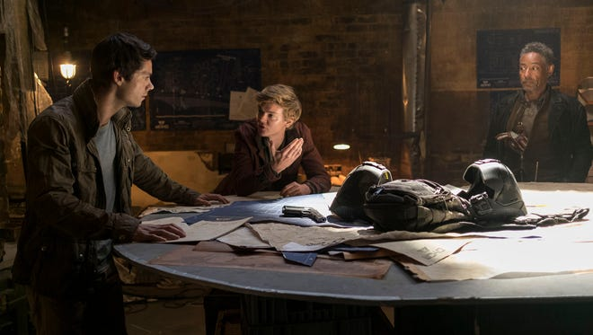 Dylan O'Brien, from left, and Thomas Brodie-Sangster in 'Maze Runner: The Death Cure.'
