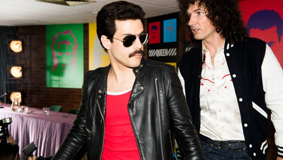 "Here's Rami Malek as Freddie Mercury and Gwilym Lee as Brian May in the critically-mixed ""Bohemian Rhapsody."""