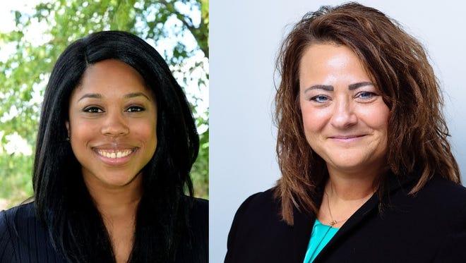 Miriam Kerns (left) and Jennifer Weston are candidates for Tippecanoe County treasurer.