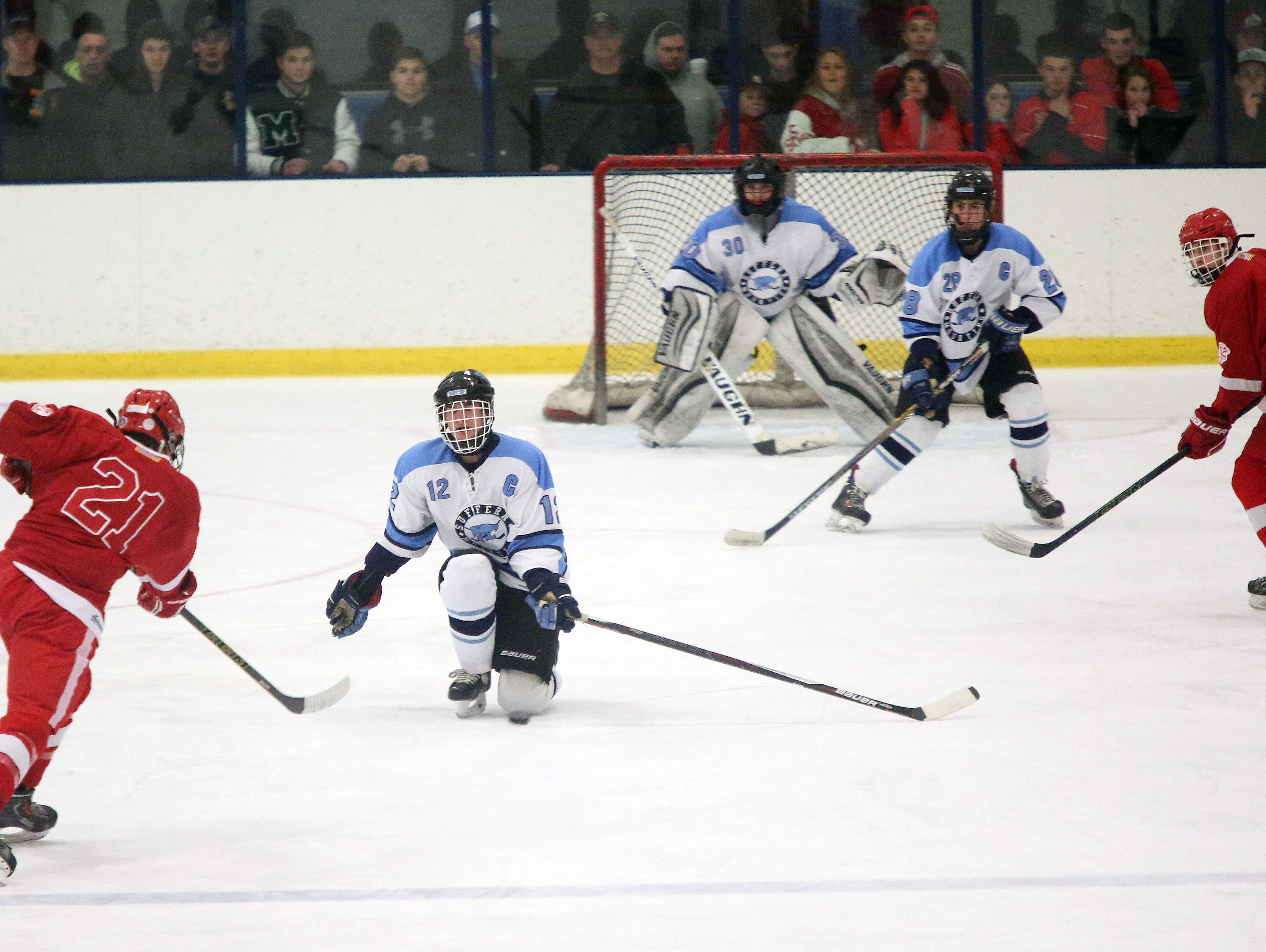 Suffern plays North Rockland in a Section 1 Division 1 semifinal of hockey Sport-O-Rama in Monsey at Feb. 26, 2016.