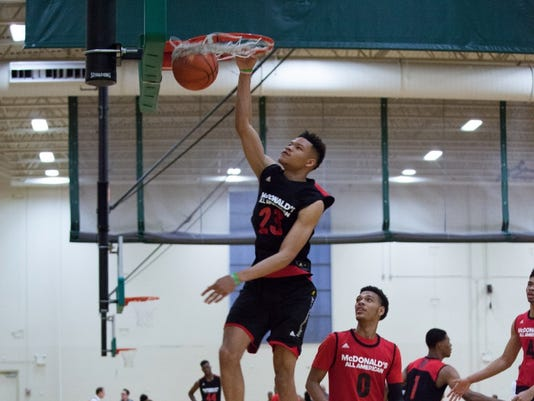 Kevin Knox at the McDonald's All-American game