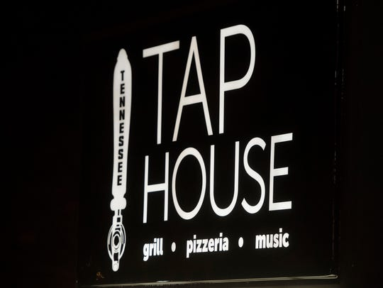 A sign marks the Tennessee Tap House in Bearden on