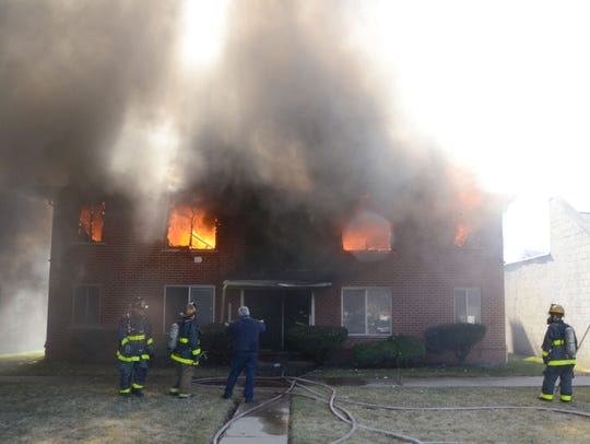 An intentionally set apartment fire in the 10500 block of Whittier at Beaconsfield in Detroit left five dead on March 8, 2017.