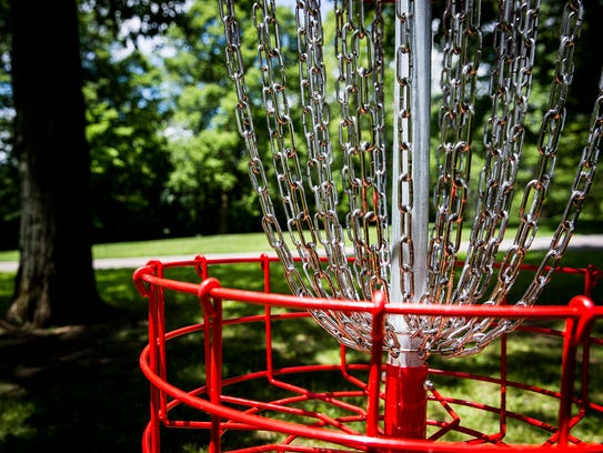 A disc golf course was installed at Goodrich Park in