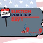 Lincoln Highway election road trip Day 1
