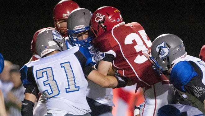 Manitowoc Lincoln hosts a football game against Green Bay Southwest Trojans at Ron Rubick Field on Friday, Sept. 18. The Ships lost to the Trojans 62-37.