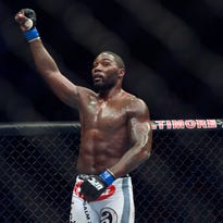 Anthony Johnson reacts after defeating Phil Davis during UFC 172 at Baltimore Arena. 20140426_jla_gb3_252.jpg