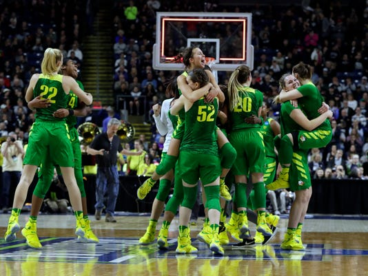 NCAA Womens Basketball: NCAA Tournament-Bridgeport Regional-Maryland vs Oregon