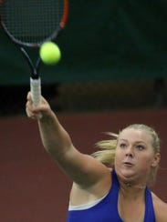 Mukwonago's Sarah Koltermann competes in the W.I.A.A.