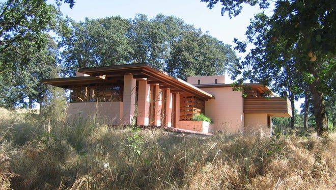 The Gordon House designed by Frank Lloyd Wright is in The Oregon Garden in Silverton.