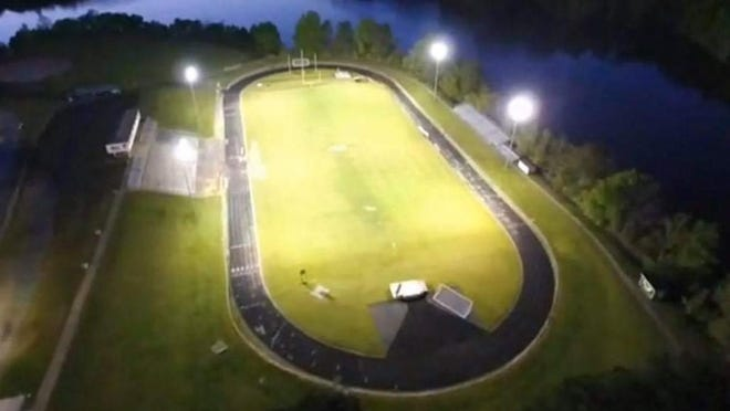 In April, the lights were turned on at an empty Eastern Alamance football stadium to honor Class of 2020 students.