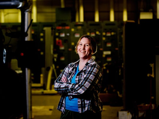 ORNL scientist and Liane B. Russell fellow Kelly Chipps poses for a photo inside the decommissioned Holifield Radioactive Ion Beam Facility inside Oak Ridge National Laboratory in Oak Ridge, Tennessee on Thursday, November 2, 2017.
