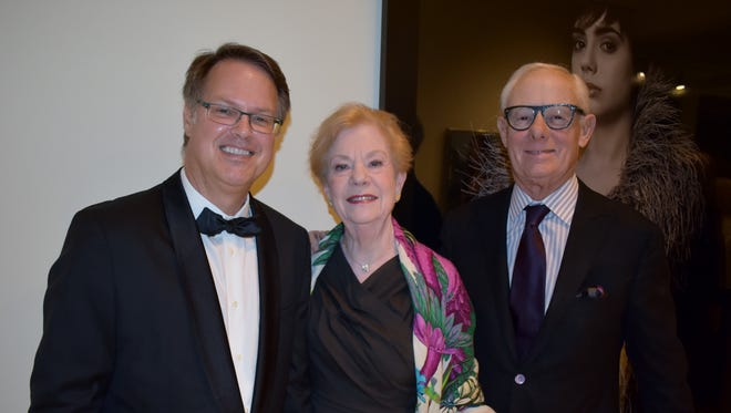 VBMA Executive Director Brady Roberts greets museum supporters Marilyn & John McConnell.
