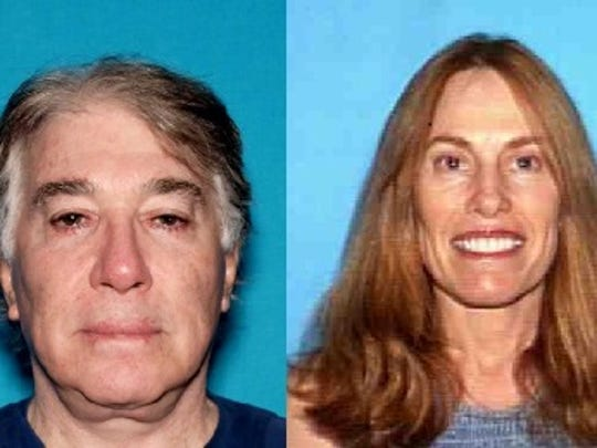 Former Rancho Mirage doctor David Morrow and his wife, Linda Morrow, were accused of bilking insurance companies. They fled the country in 2017 and he remains at large. She was in court Monday, July 1, 2019, after being returned to the country. She remained in jail Monday.