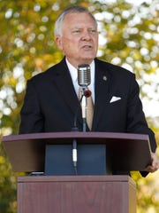 Georgia Gov. Nathan Deal speaks  Oct. 15, 2015, in
