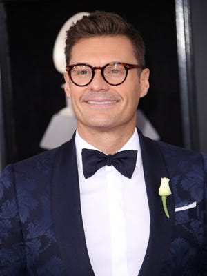 Ryan Seacrest arrives at the 60th Annual Grammy Awards at Madison Square Garden in New York.