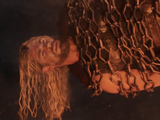 The god of thunder Thor (Chris Hemsworth) is captured at the start of 'Thor: Ragnarok,' the third installment in the franchise.