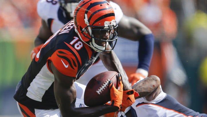 Cincinnati Bengals wide receiver A.J. Green (18) makes