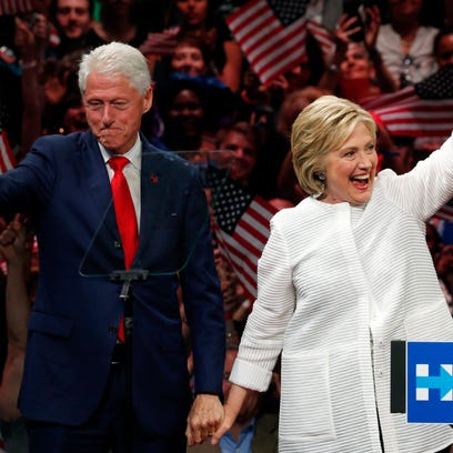 Bill and Hillary Clinton, here in June in New York,