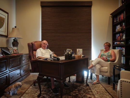 Wife and husband Candy Cook and Jim Sheerin and their