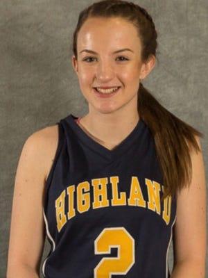Highland girls basketball player Bri Rozzi