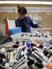 Dorothy Lemelson STEM Academy K-12 teacher Tobi Waldron has collected thousands of expo markers for the #ArmMeWith campaign.